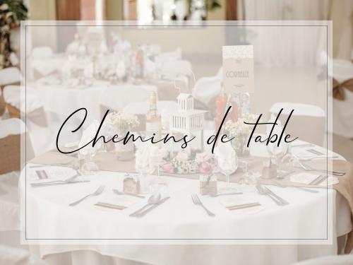 Chemins de table location décoration mariage