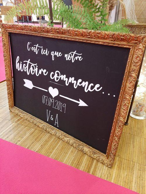 Panneau personnalisé Décoration mariage Nantes Loire-Atlantique