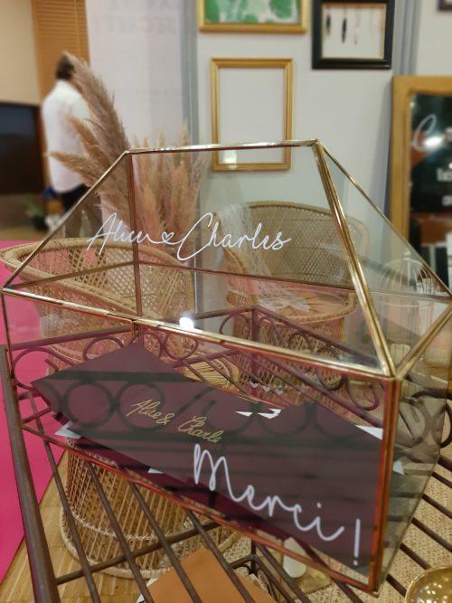 Location urne en verre décoration mariage Nantes Loire-Atlantique