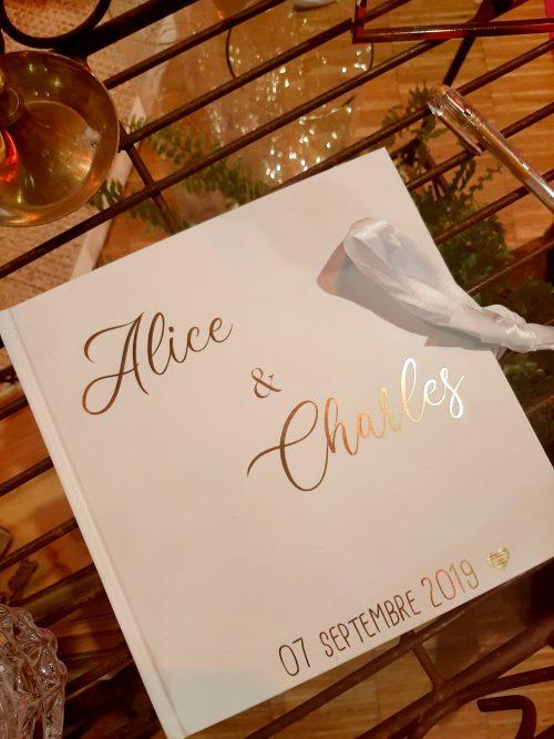 Livre d'or personnalisé mariage Nantes Loire-Atlantique