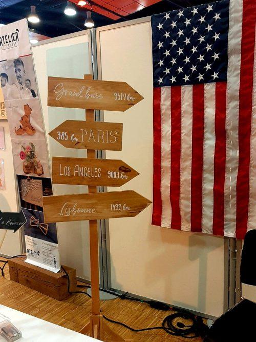 Création panneaux directionnels mariage Nantes Loire-Atlantique
