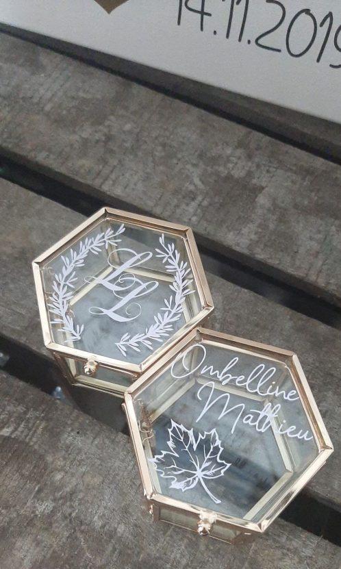 Boite à alliances personnalisée décoration mariage Nantes Loire-Atlantique