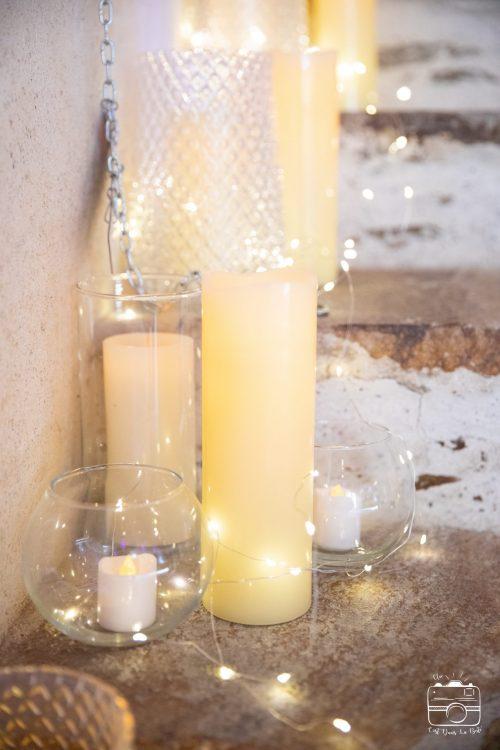 Location bougies LED décoration mariage Nantes Loire-Atlantique