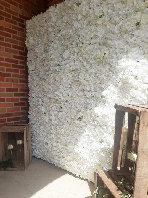 Location mur floral décoration mariage Nantes Loire-Atlantique